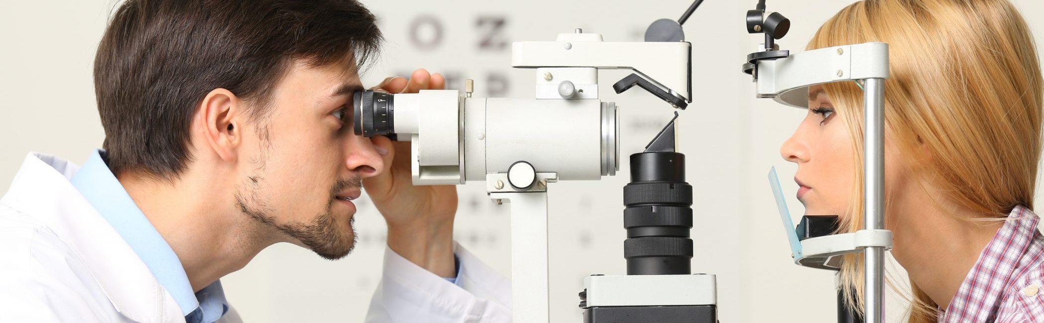 Optometrist oogcheck